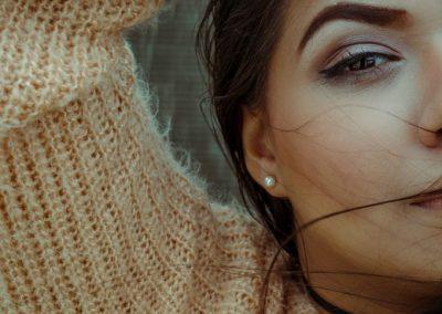 Boucle d'oreille en perle fine