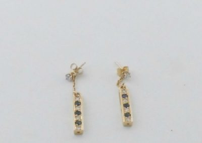 Boucles d'oreilles or 18k saphirs diamants créations bijoux sens 89