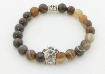 Bracelet en jaspe zèbre bijouterie 89100