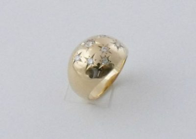 Bague en or 18k avec diamants