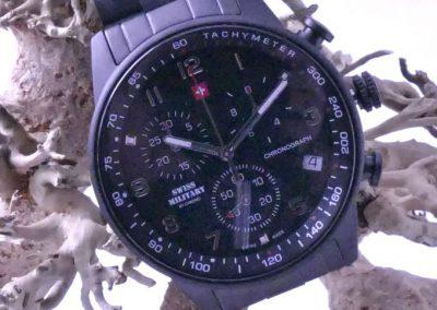 Montre homme chrono noire swisss military