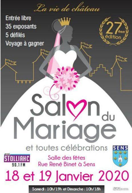 Affiche publicitaire du salon du mariage de sens 2020