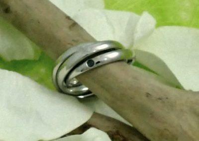 Alliance 3 anneaux platine bijouterie sens