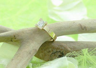 Solitaire diamant bijouterie lamalle